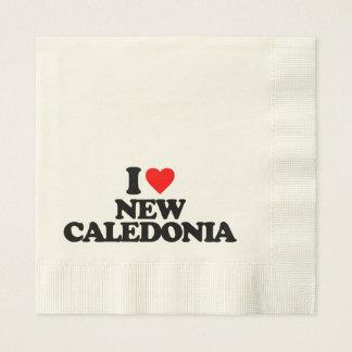 I LOVE NEW CALEDONIA PAPER NAPKIN