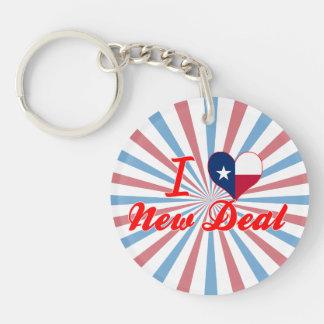 I Love New Deal, Texas Single-Sided Round Acrylic Keychain