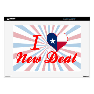 """I Love New Deal, Texas Decals For 15"""" Laptops"""