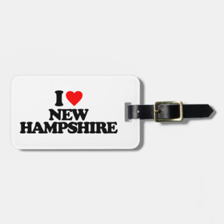 I LOVE NEW HAMPSHIRE BAG TAG