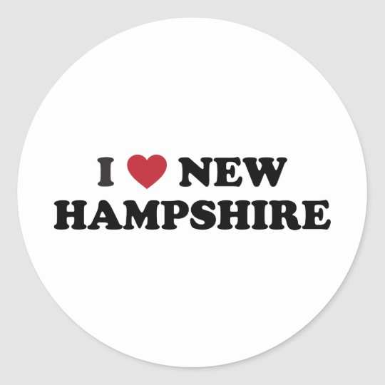 I Love New Hampshire Classic Round Sticker