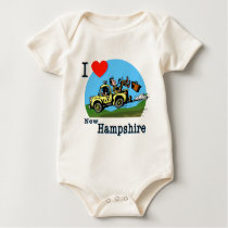 I Love New Hampshire Country Taxi Baby Bodysuit
