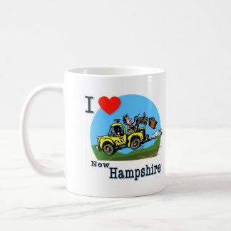 I Love New Hampshire Country Taxi Coffee Mug