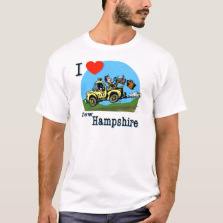 I Love New Hampshire Country Taxi T-Shirt
