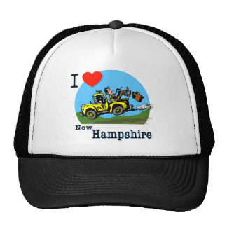 I Love New Hampshire Country Taxi Trucker Hat