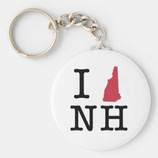 I Love New Hampshire Keychain