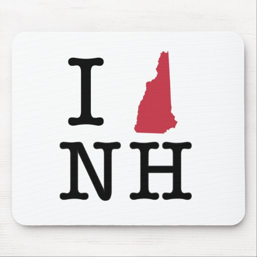 I Love New Hampshire Mouse Pad