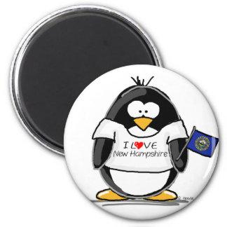 I Love New Hampshire Penguin Fridge Magnet