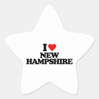 I LOVE NEW HAMPSHIRE STAR STICKERS