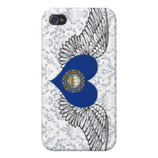 I Love New Hampshire -wings Covers For iPhone 4
