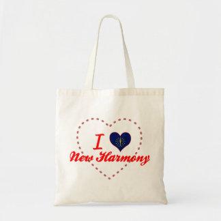 I Love New Harmony, Indiana Tote Bags