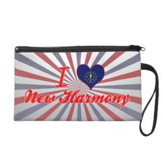 I Love New Harmony, Indiana Wristlet