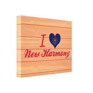 I Love New Harmony, Indiana Gallery Wrap Canvas