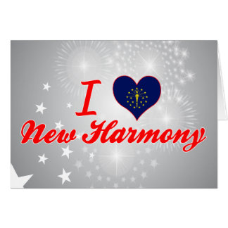 I Love New Harmony, Indiana Greeting Cards