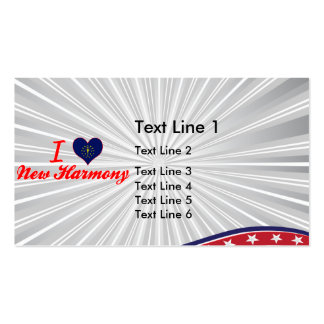 I Love New Harmony, Indiana Double-Sided Standard Business Cards (Pack Of 100)