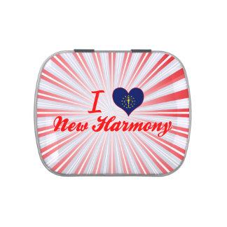 I Love New Harmony, Indiana Jelly Belly Candy Tin