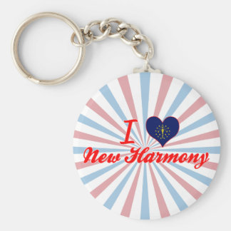 I Love New Harmony, Indiana Key Chain