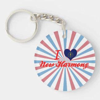 I Love New Harmony, Indiana Acrylic Key Chain
