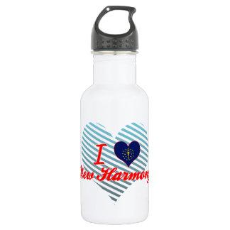 I Love New Harmony, Indiana 18oz Water Bottle