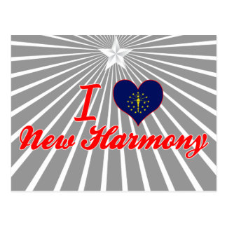 I Love New Harmony, Indiana Postcard