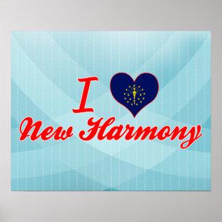 I Love New Harmony, Indiana Print