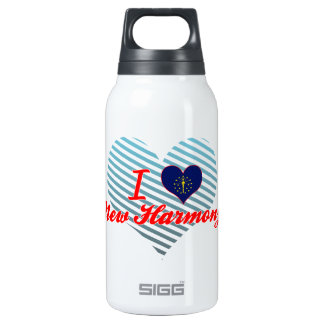 I Love New Harmony, Indiana 10 Oz Insulated SIGG Thermos Water Bottle