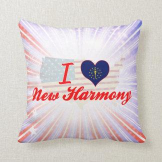 I Love New Harmony, Indiana Throw Pillow