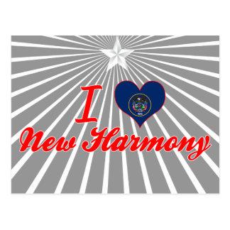 I Love New Harmony, Utah Postcard