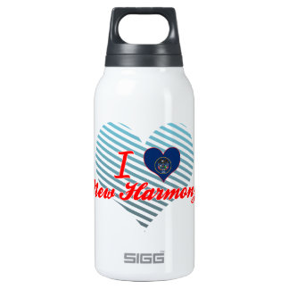 I Love New Harmony, Utah 10 Oz Insulated SIGG Thermos Water Bottle