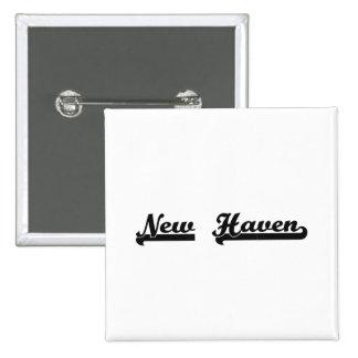 I love New Haven Connecticut Classic Design 2 Inch Square Button