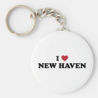 I Love New Haven Connecticut Keychain