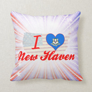 I Love New Haven, Connecticut Throw Pillow