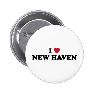 I Love New Haven Connecticut Pinback Button