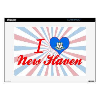 I Love New Haven Connecticut Laptop Decal