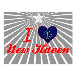 I Love New Haven, Indiana Postcard