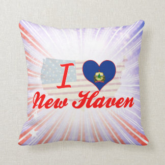 I Love New Haven, Vermont Pillows
