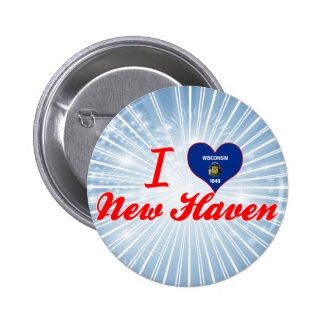 I Love New Haven, Wisconsin Pins