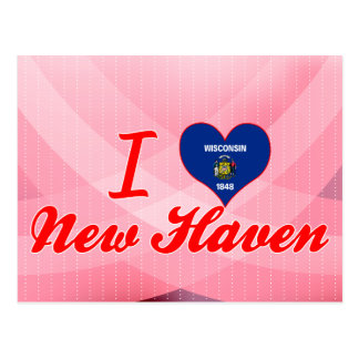 I Love New Haven, Wisconsin Postcard