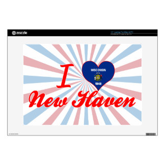 """I Love New Haven Wisconsin 15"""" Laptop Decal"""