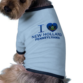 I Love New Holland, PA Dog Tshirt