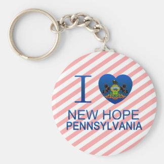 I Love New Hope, PA Basic Round Button Keychain