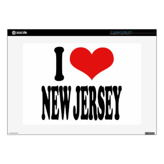 "I Love New Jersey 15"" Laptop Decal"