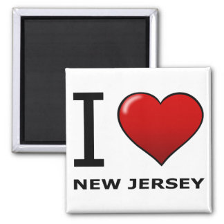 I LOVE NEW JERSEY 2 INCH SQUARE MAGNET