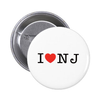 I LOVE New Jersey Buttons