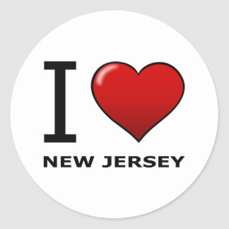 I LOVE NEW JERSEY CLASSIC ROUND STICKER