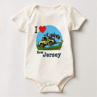 I Love New Jersey Country Taxi Romper