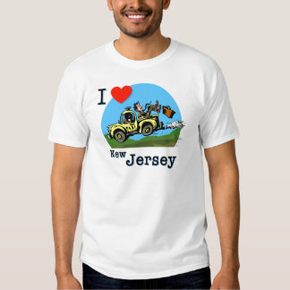 I Love New Jersey Country Taxi T Shirt