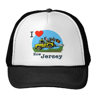 I Love New Jersey Country Taxi Trucker Hat