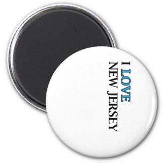 I Love New Jersey Design 2 Inch Round Magnet