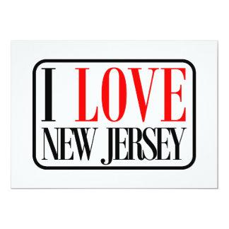 I Love New Jersey Design 5x7 Paper Invitation Card